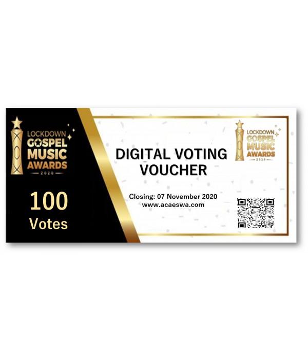 Digital Voting Voucher 100 VOTES