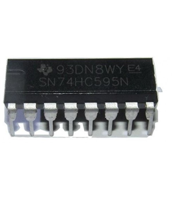 Major Brands74HC595 ICs & Semiconductors, 8-Bit Shift Register (Output Latches & Eight 3-State Outputs, DIP 16, Cascadable)